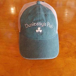 Dunleavy's Pub Baseball Cap, Dark Green with White Mesh