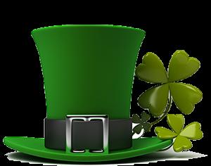 Irish hat and clovers